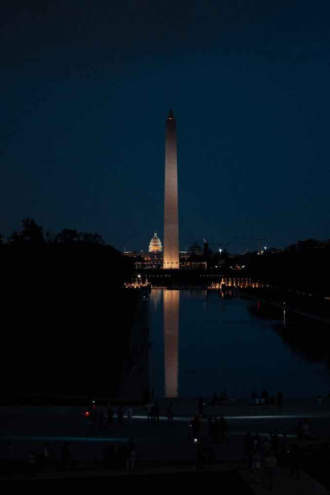 photo of washington monument during evening